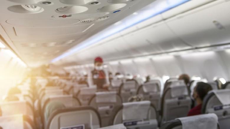 Ilustrasi pramugari dalam penerbangan komersial