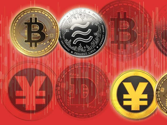 Ilustrasi Uang Digital Bitcoin