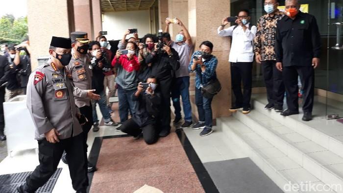 Kapolri Jenderal Listyo Sigit Prabowo silaturahmi ke kantor PP Muhammadiyah di Yogyakarta, Jumat (19/2/2021)