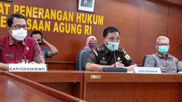 Kejagung konpers penangkapan peretas database milik mereka, Jumat (19/2/2021). Peretas masih berumur 16 tahun dan tak ditahan.