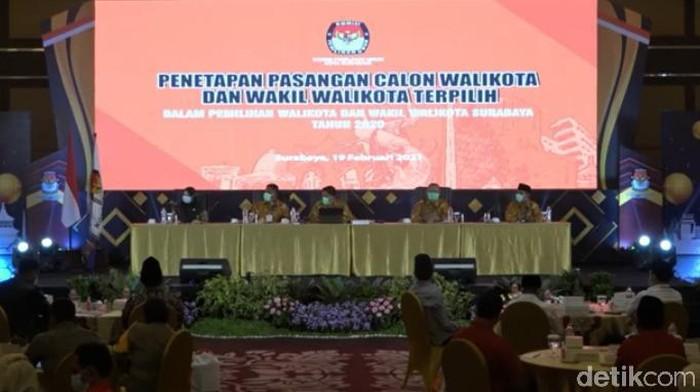 KPU Tetapkan Eri-Armuji Sebagai Wali Kota dan Wakil Wali Kota Surabaya