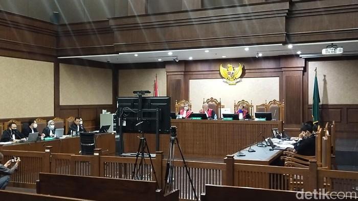Sidang lanjutan eks Sekretaris MA Nurhadi agenda pemeriksaan saksi (Zunita/detikcom).