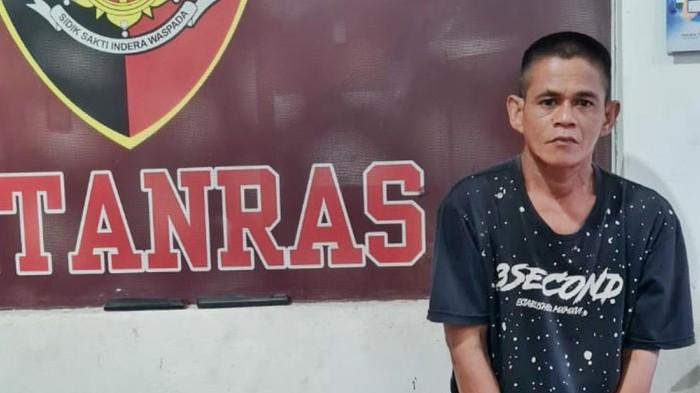 Tersangka perampok toko emas di Palembang ditangkap saat kabur ke Banten. Tersangka ditembak karena berusaha kabur lagi (dok Istimewa)