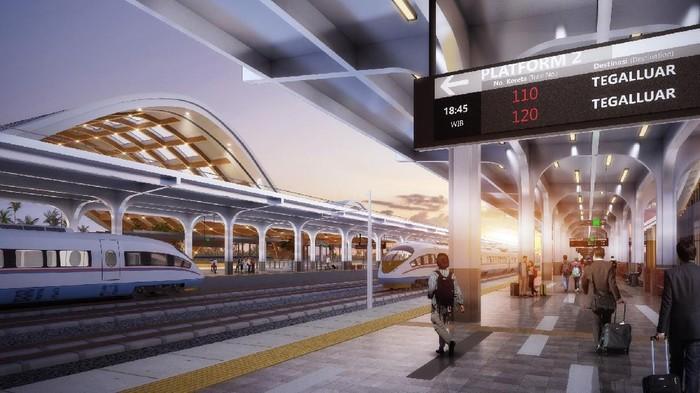 Ini adalah render desain stasiun kereta cepat Jakarta-Bandung.