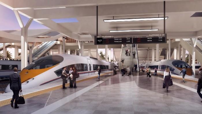 Ini adalah render desain stasiun kereta cepat Jakarta-Bandung