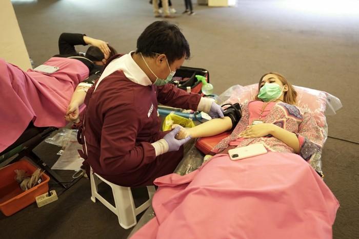 Donor darah Metland bekerja sama dengan PMK Kota Bekasi