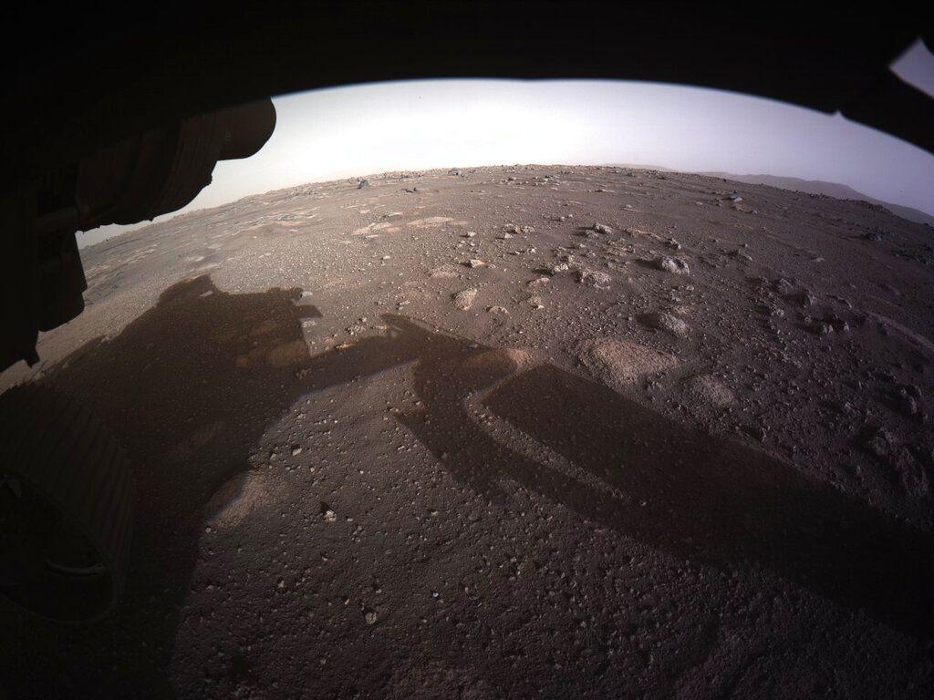 Foto Pendaratan Perseverance di Mars