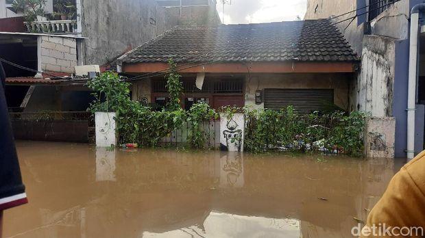Banjir di Pondok Gede Permai (Fathan/detikcom)