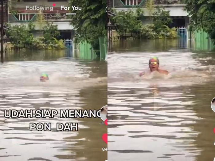 Kelakuan warga Bekasi saat banjir.