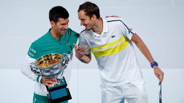 Novak Djokovic dan Daniil Medvedev di Australia Terbuka 2021
