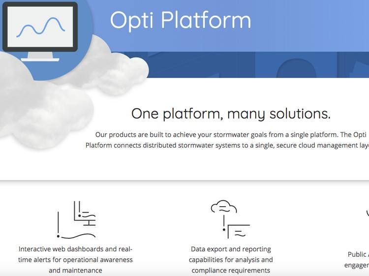 Startup Opti dari Amerika Serikat, software manajemen data sistem drainase yang terkomputerisasi.
