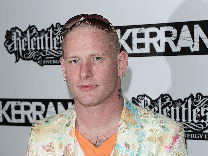 LONDON, ENGLAND - JULY 29:  Corey Taylor from Slipknot winner of the Kerrang! Services to Metal award poses with his award during the Relentless Energy Drink Kerrang! Awards 2010 at The Brewery on July 29, 2010 in London, England.  (Photo by Ian Gavan/Getty Images)