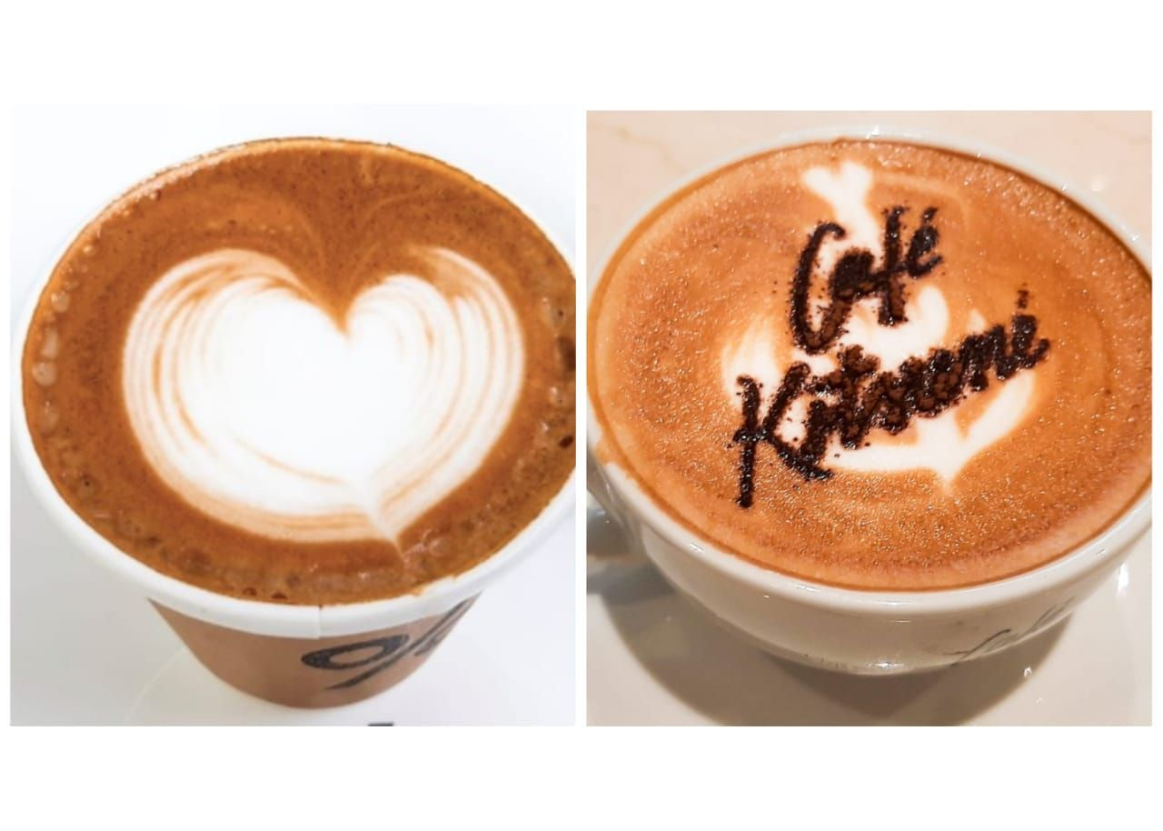 Adu Rasa Caffe Latte % Arabica dan Café Kitsuné yang Lagi Hits