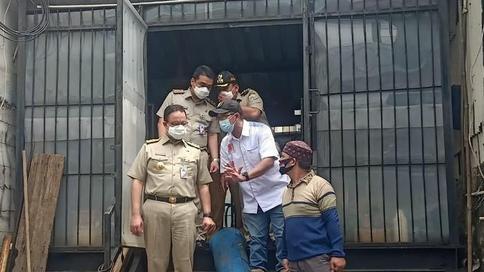 Anies kunjungi lokasi banjir di Rawa Buaya Jakbar yang sudah surut