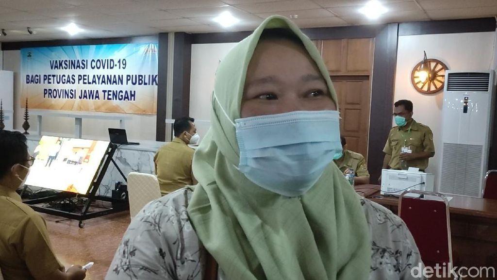 Pedagang Pasar di Semarang Ini Siap Ajak Temannya Divaksin Corona