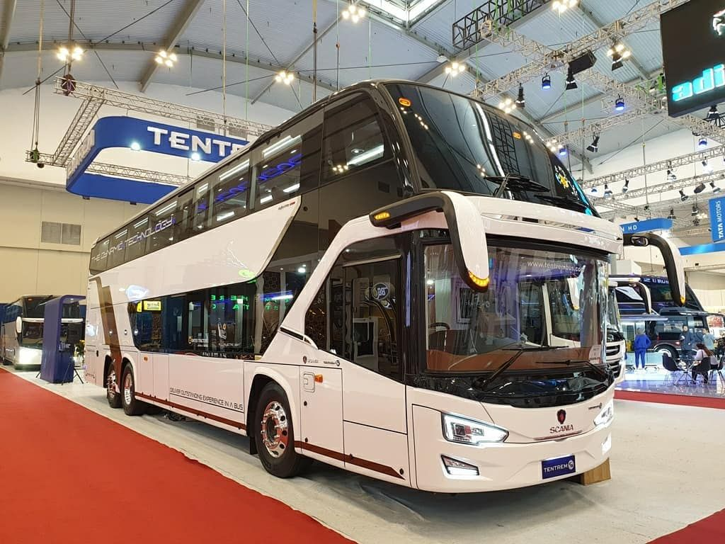 Bus tingkat Tentrem yang diperkenalkan di GIIAS 2019 lalu