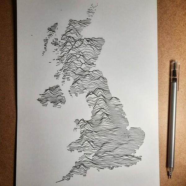 Peta wilayah Inggris.