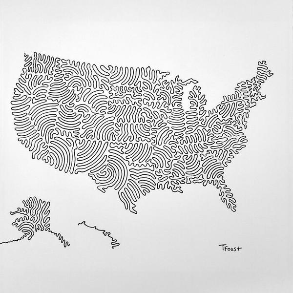 Peta dari wilayah USA.