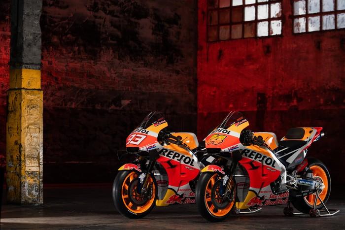 Repsol Honda meluncurkan motor MotoGP untuk musim 2021.