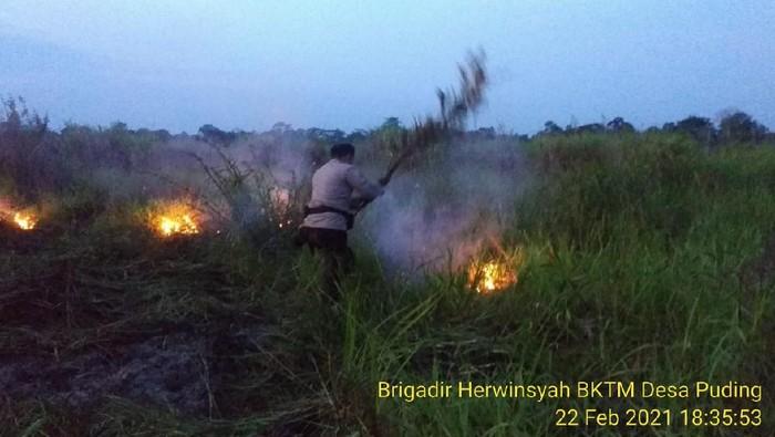 Kebakaran hutan dan lahan di Jambi (dok Polres Muaro Jambi)