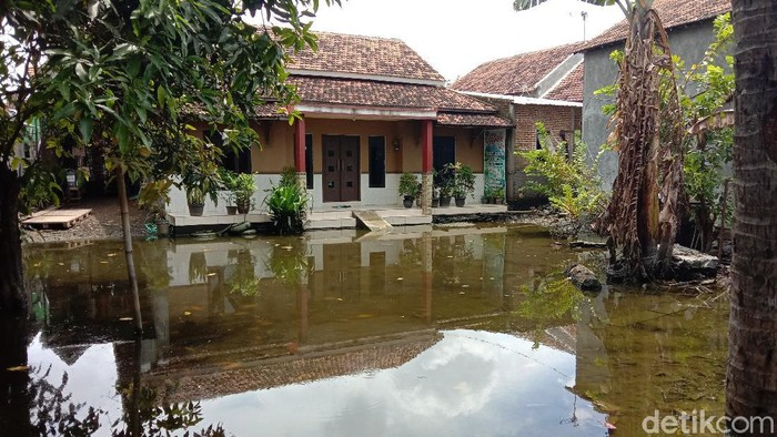 Kondisi banjir di Desa Jati Wetan, Kecamatan Jati, Kudus, Selasa (23/2/2021).
