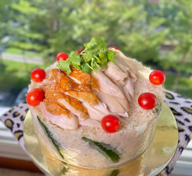 kue ulang tahun dari nasi ayam hainan