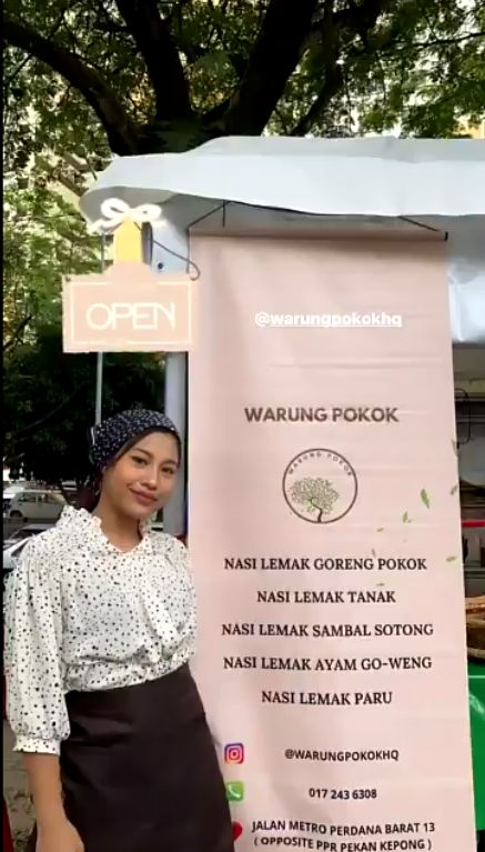 Lulus Kuliah, Wanita Cantik Ini Pilih Jualan Nasi Lemak di Pinggir Jalan