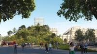 Rupa Konsep Bukit Buatan di Tengah Kota London