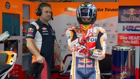 Tangis Marquez Usai Finis Ketujuh di MotoGP Portugal