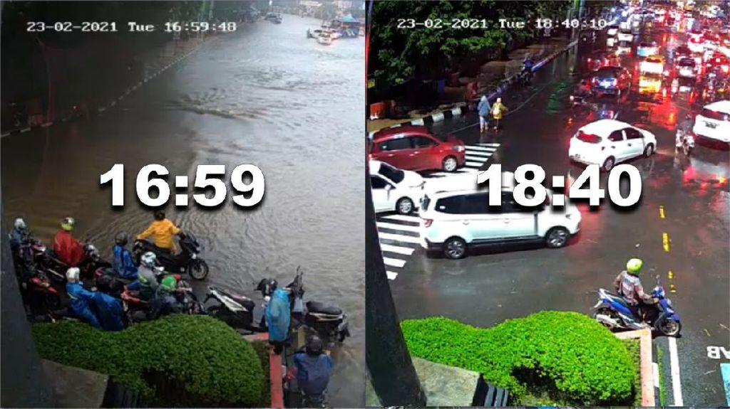 Gunakan Analitik CCTV, Genangan di Simpang Lima Semarang Kering 2 Jam