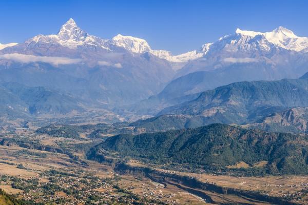 Dari Pokhara Puncak Machhapuchhare sangat indah dan mempesona. (Getty Images/iStockphoto)