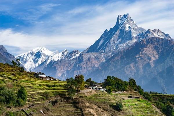 Machhapuchhare adalah gunung setinggi 6.993 meter di Nepal. (Getty Images/iStockphoto)