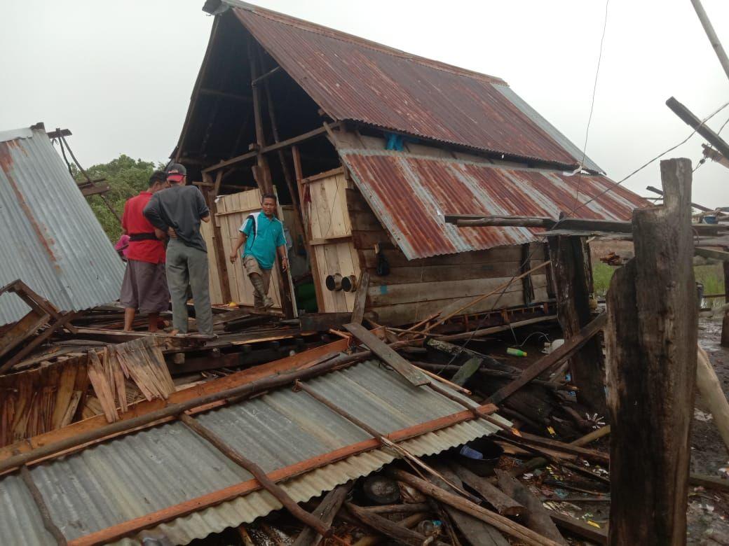 28 Rumah di Sumsel Rusak Akibat Hujan Deras Disertai Angin Kencang (Foto: dok. BPBD Sumsel)