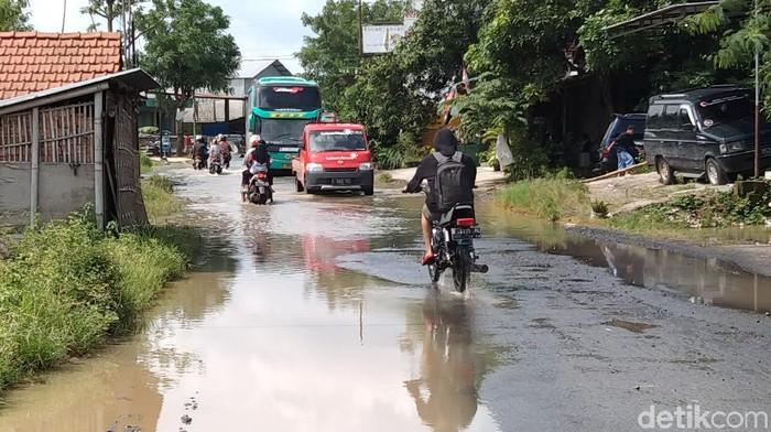 Banjir di Desa Mustokoharjo, Pati kota, Rabu (24/2/2021) pagi.