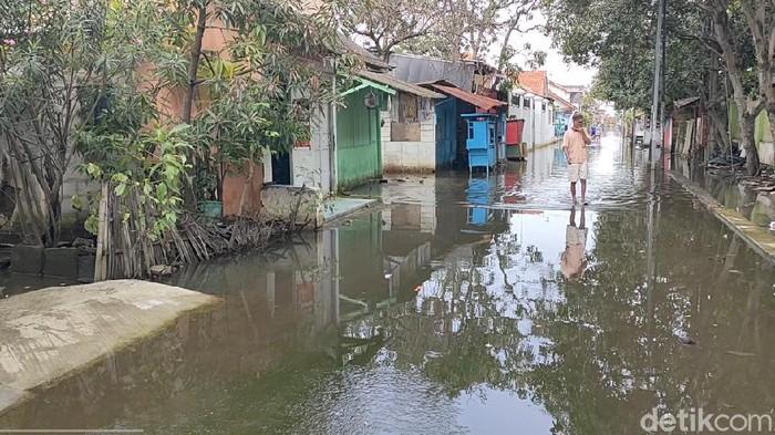 Banjir di Kota Pekalongan mulai surut, Rabu (24/2/2021)