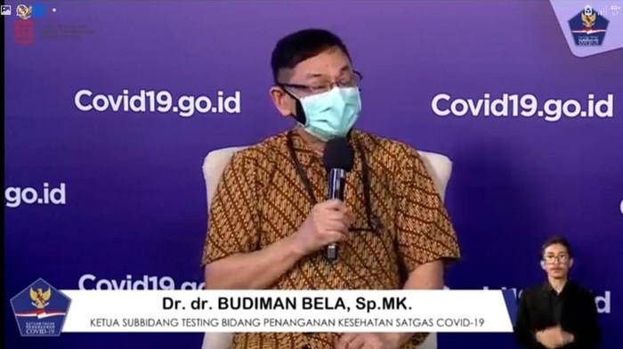 Ketua Subbidang Testing Bidang Penanganan Kesehatan Satgas COVID-19, Budiman Bela