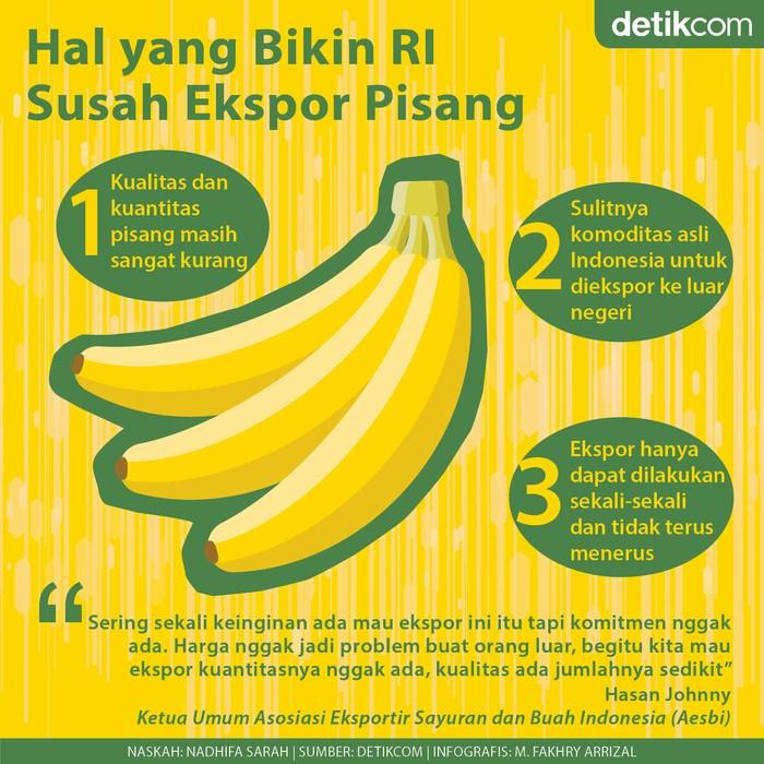 Infografis ekspor pisang