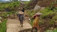 Jalan Desa di Cianjur Terputus Akibat Longsor, 1.000 Warga Terisolir