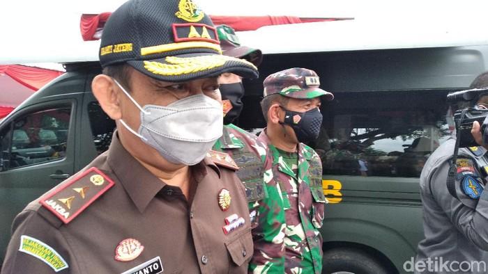 Kepala Kejati Jawa Tengah, Priyanto saat menghadiri peresmian rumah sakit lapangan (Rumkitlap) Benteng Vastenburg, Solo, Rabu (24/2/2021).