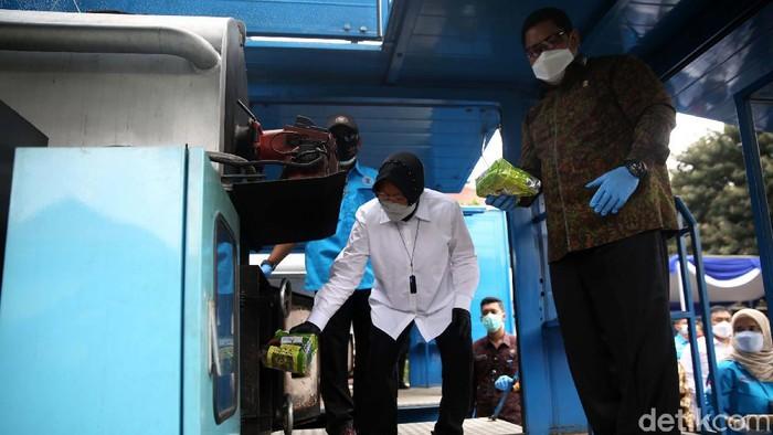 BNN memusnahkan barang bukti narkotika jenis sabu seberat 84,587 kilogram dan ganja seberat 115,854 kilogram. Mensos Tri Rismaharini ikut hadir dalam pemusnahan ini.