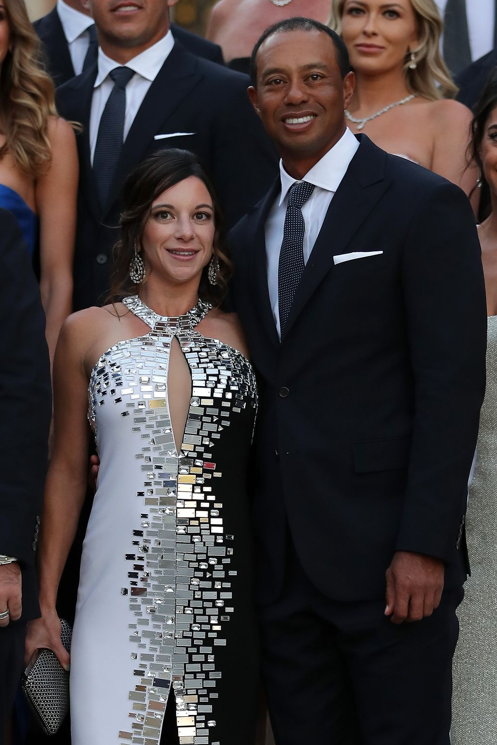 MELBOURNE, AUSTRALIA - DECEMBER 06:  Tiger Woods and his girlfriend Erica Herman look on during a Presidents Cup media opportunity at the Yarra Promenade on December 5, 2018 in Melbourne, Australia. The Presidents Cup 2019 will be held on December 9-15, 2019, when it returns to the prestigious Royal Melbourne Golf Club in Australia.  (Photo by Scott Barbour/Getty Images)