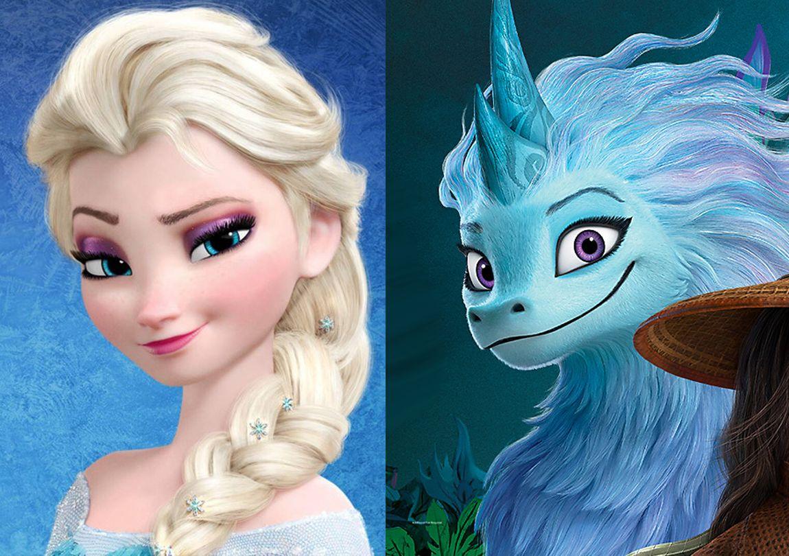Perbandingan wajah Elsa Frozen dan Sisu Raya and the Last Dragon