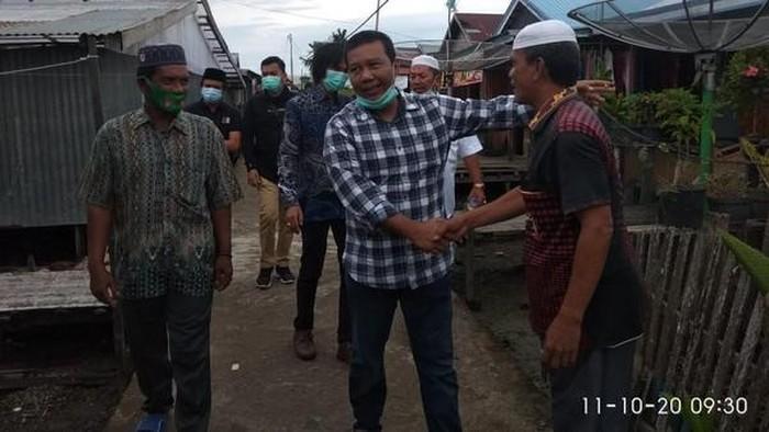 Romi Hariyanto saat bertemu warga di Pilkada Tanjabtim 2020