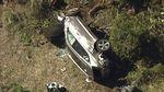 Ringsek Depan-Belakang, Begini Kondisi SUV Tigers Woods Usai Kecelakaan Fatal