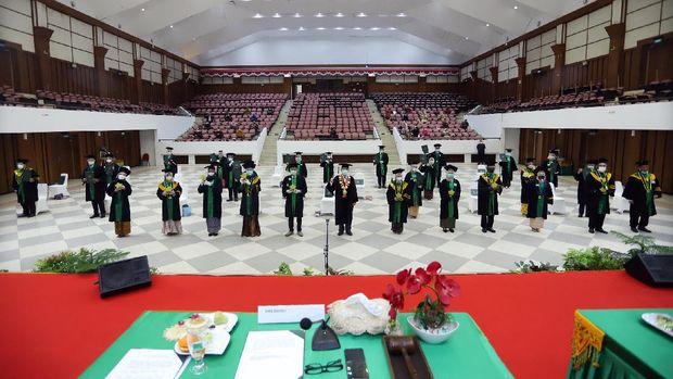 Universitas Syiah Kuala (USK) Aceh mewisuda 1.549 lulusan periode November 2020 sampai Januari 2021 (Agus Setyadi/detikcom)ilustrasi wisuda