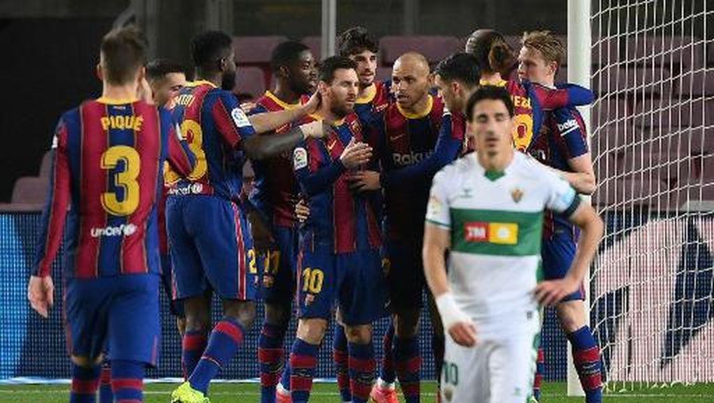 Barcelona Vs Elche: Messi Dua Gol, Blaugrana Menang 3-0