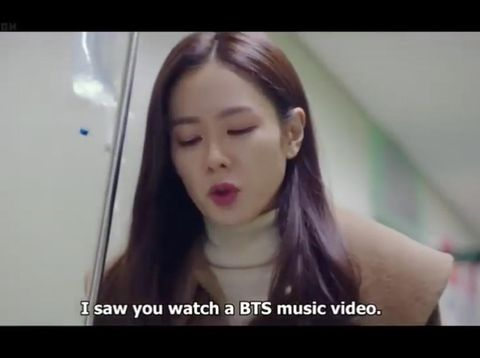 Tak hanya eksis di dunia nyata, BTS juga populer dalam drama Korea. Ada saja hal berbau BTS yang disebut dalam drama Korea seperti lagu dan nama membernya. Bahkan, ada karakter drama Korea yang berperan sebagai penggemar BTS