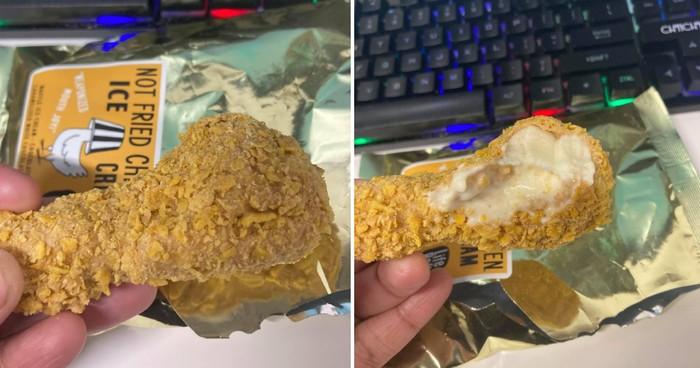 es krim bentuk ayam goreng