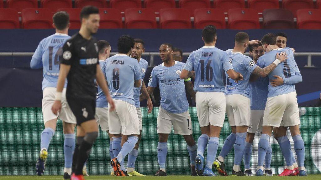 Melihat Gol-gol Man City yang Tumbangkan Gladbach 2-0