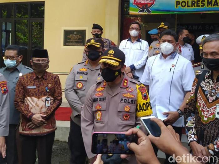 Kapolda Jateng Irjen Pol Ahmad Luthfi di Polres Magelang, Kamis (25/2/2021).